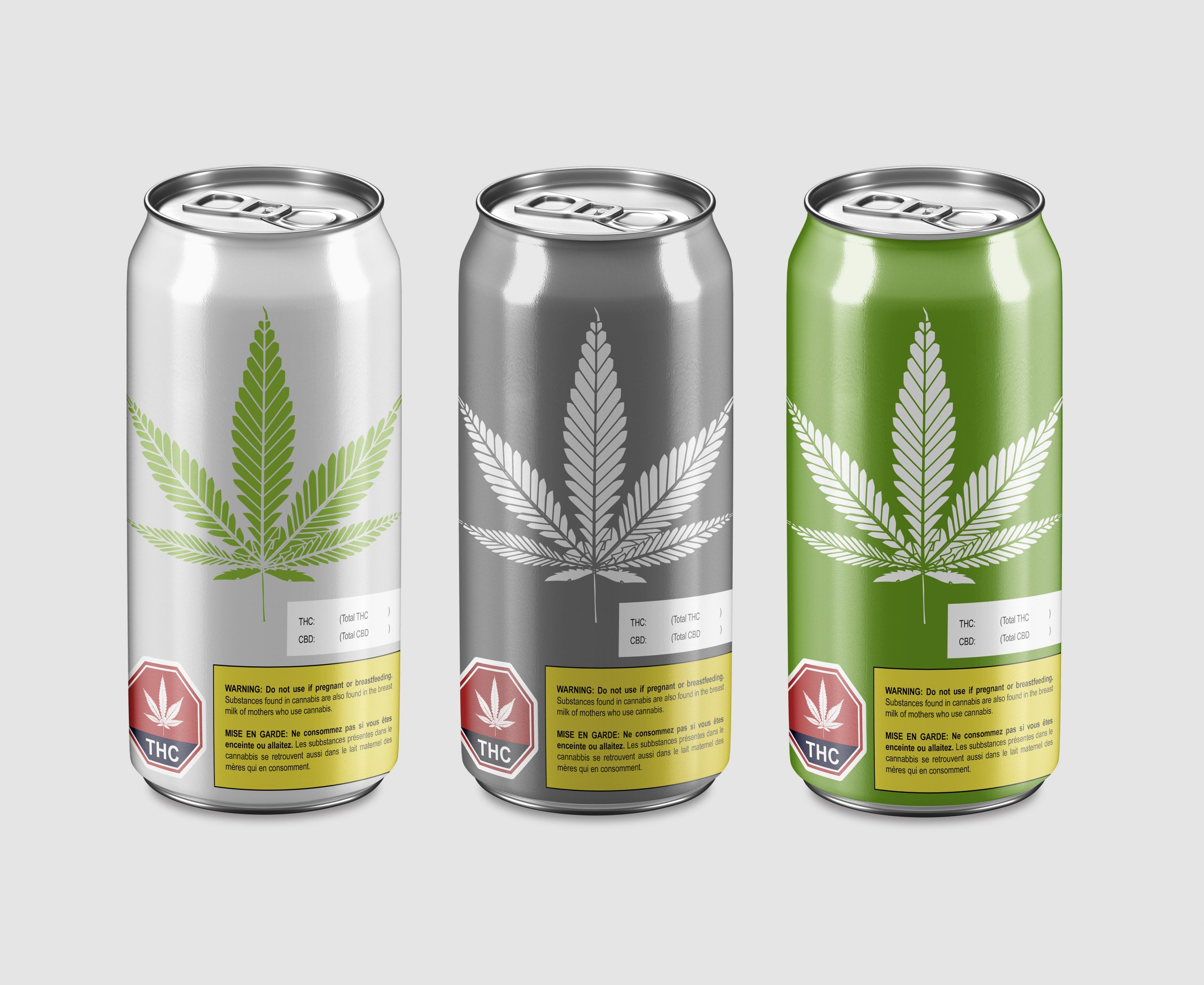 Cannabis infused beer and beverage cans